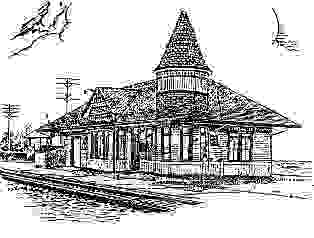 Drawing of Smithville station